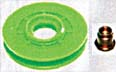 Autoclips RUEDA PASACABLE 34 MM VERDE C/REMACHE UNIVERSAL